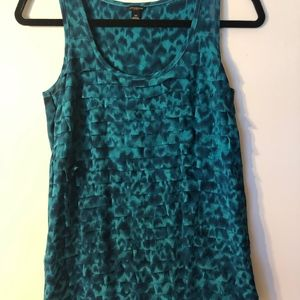 Sleeveless Top Blue/Turquoise